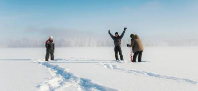 Travesía del lago Inari
