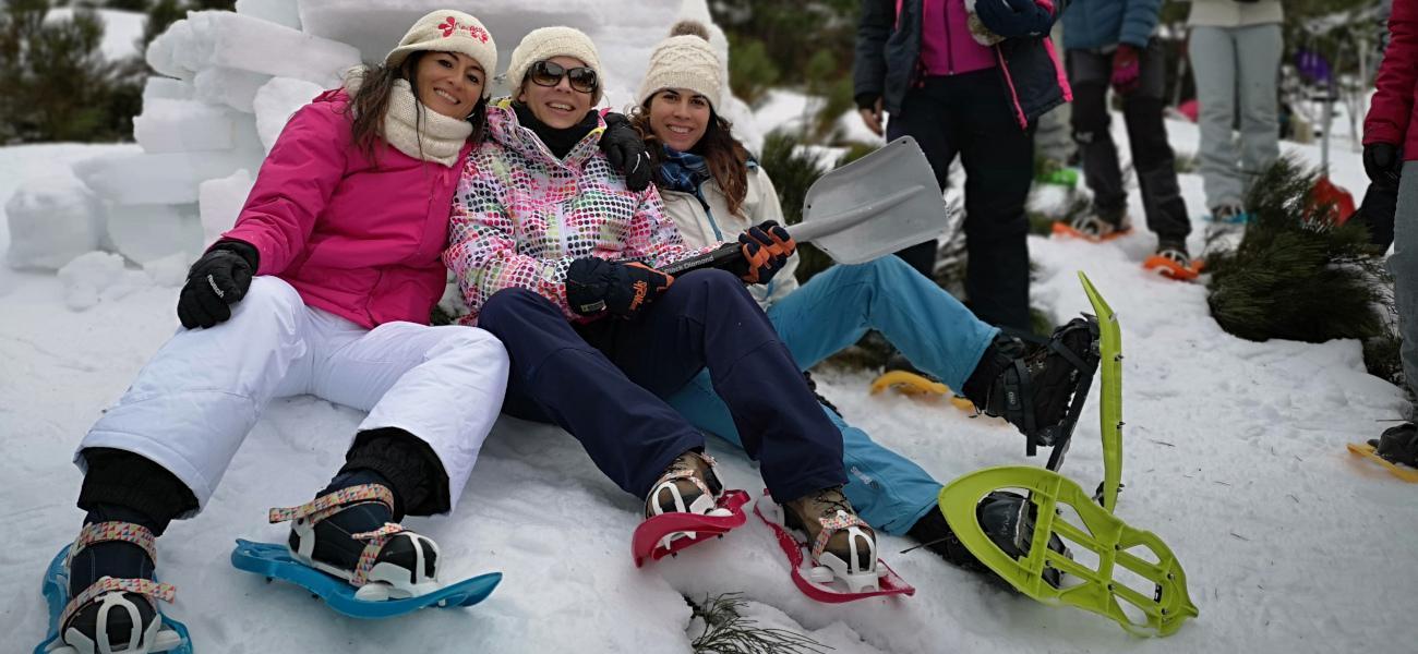 Raquetas de nieve en Madrid (Navacerrada)